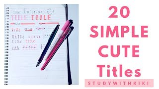 20-simple-and-cute-ideas-for-neat-notes-studywithkiki