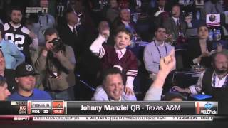 "Johnny Manziel drafted by Browns - ""Here Comes The Money"""