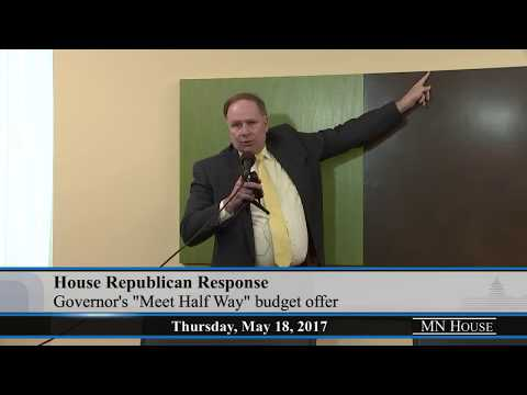 Representative Jim Knoblach Press Conference  5/18/17