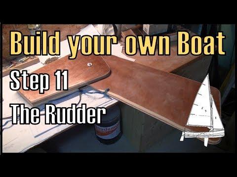 Wooden Boat Building Step 11: Building the Rudder