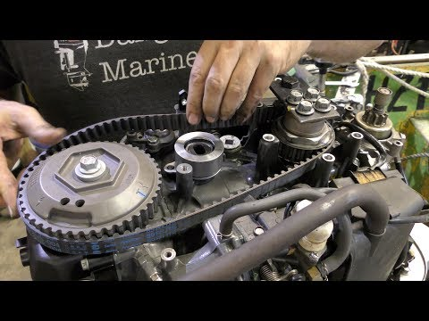 Outboard timing belt replacement