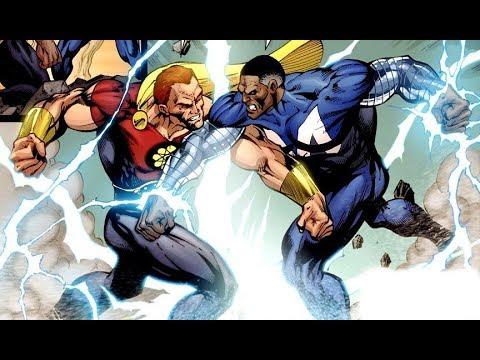 Blue Marvel vs. King Hyperion