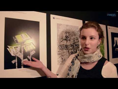 TKvideoteka: Репортаж з відкриття виставки карикатур