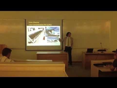 Introducing Solar Power Technologies. Talk by Artin Der Minassians