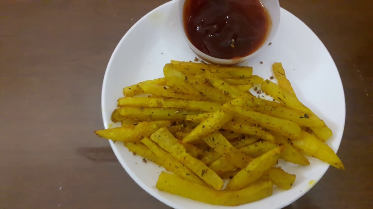 French Fries Using Microwave Oven Less Oil Recipe With Subles ஃப ர ஞ ச