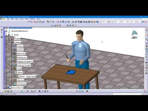 Creating a Manikin Simulation in CATIA V5