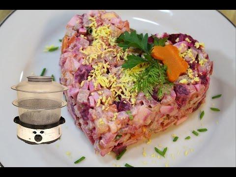 Рецепт Салата Мясной Винегрет (Russian Salad Meat Vinegrette or Vinegret)