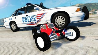 RC Cars Outrun Police During Epic Chase! - BeamNG Gameplay & Crashes - Cop Escape