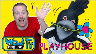 Playhouse for Kids with Steve and Maggie | Playing with Wow English TV