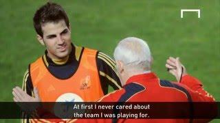 Fabregas discusses his relationship with Luis Aragones