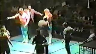 The Midnight Express vs Rock N Roll Express With Jim Cornette In a Cage