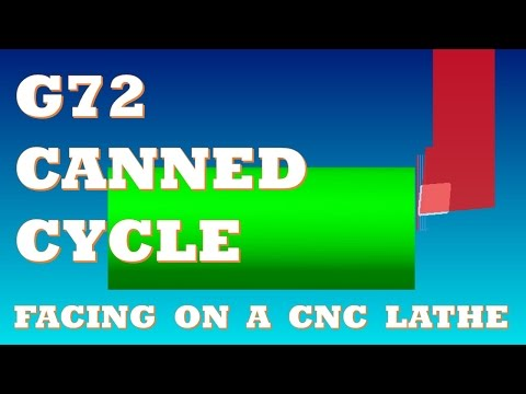 CNC LATHE PROGRAMMING LESSON 1 - LEARN TO WRITE A G72 CANNED CYCLE FOR FACING ON A CNC LATHE