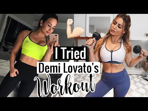I TRIED DEMI LOVATO'S WORKOUT ROUTINE THIS IS WHAT HAPPENED