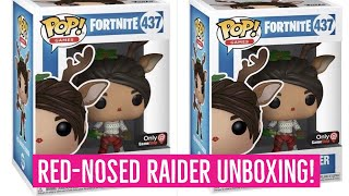 Funko Pop Vinyl Fortnite RED NOSED RAIDER Unboxing! Fortnite Battle Royale! Fortnite toys!