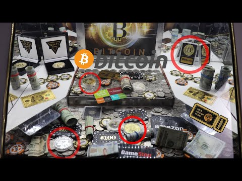 High Limit Coin Pusher Full Of Bitcoins! I Came Out A Jackpot Winner