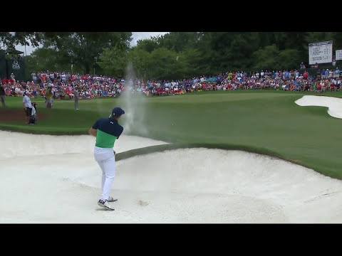Jordan Spieth and Michael Greller discuss bunker shot strategy