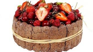 """Торт-десерт """"Дары лета"""". Шоколадный бисквит и нежный фруктовый мусс."""
