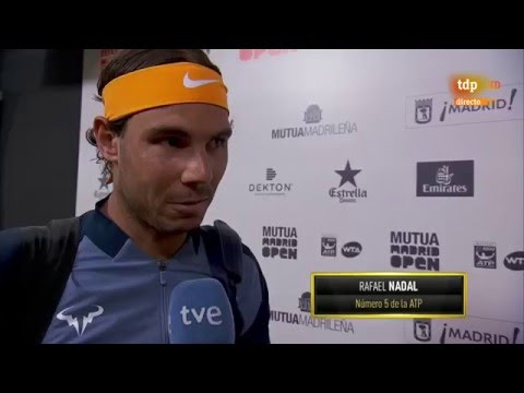 Nadal-Sousa Interviews before playing the match Mutua Madrid Open 2016