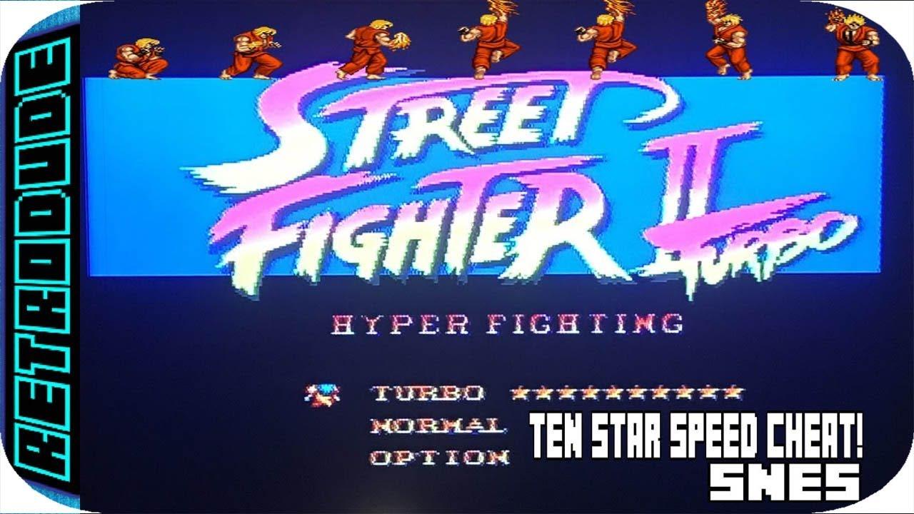Street Fighter 2 Turbo Ten Star Speed Cheat Snes Youtube