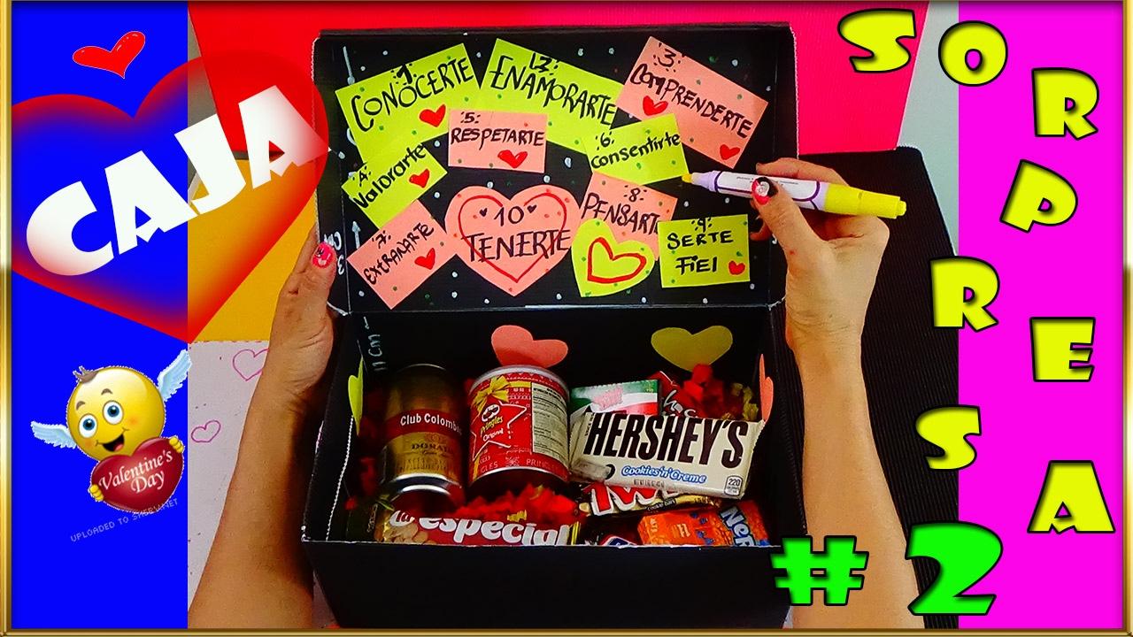 Caja sorpresa 2 surprise box 2 creaciones for Sorpresas para aniversario
