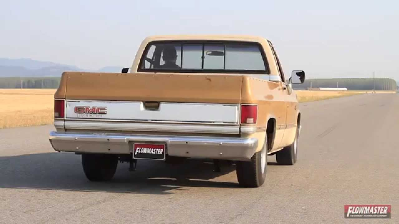 hight resolution of 1973 1987 chevy gmc pickup truck performance exhaust system flowmaster 17742 youtube
