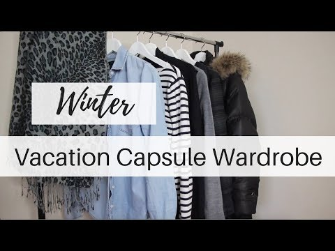 Winter Vacation Capsule | Cold Weather Capsule Wardrobe