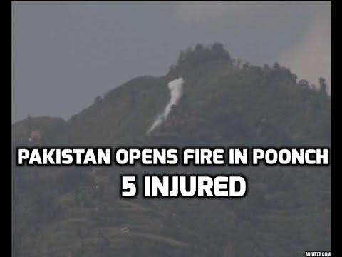 Jammu Kashmir: Pakistan violates ceasefire again, 5 injured in Poonch