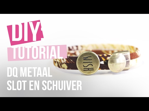 Sieraden maken: Hippe armband met DQ slot en schuiver ♡ DIY