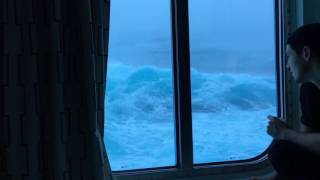 Anthem Of The Seas Vs Huge Waves And 120 MPH Winds. Viewed From My Room On The Third Deck. NO MUSIC! thumbnail