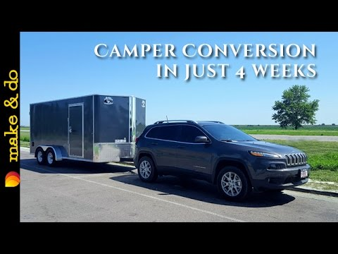 Cargo Trailer to Camper Conversion - How We Did It in 4 weeks