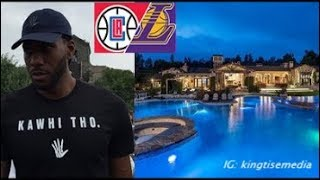 Kawhi Leonard Buys $13 Million Dollar Mansion In CALI RIGHT BY Los Angeles