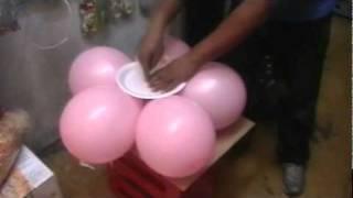 decoracion con globos FLOR DE 5 PETALOS SENCILLA.