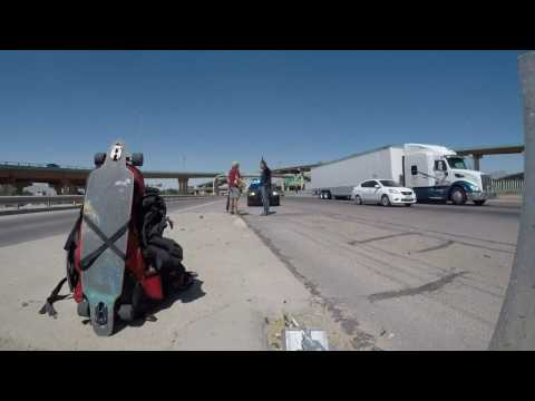 Hitchhiking from El Paso on the Interstate 10, United States, time-lapse