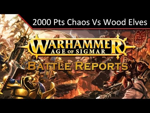 TBMC - Age of Sigmar 2000 Points Matched Play - Chaos vs Wood Elves