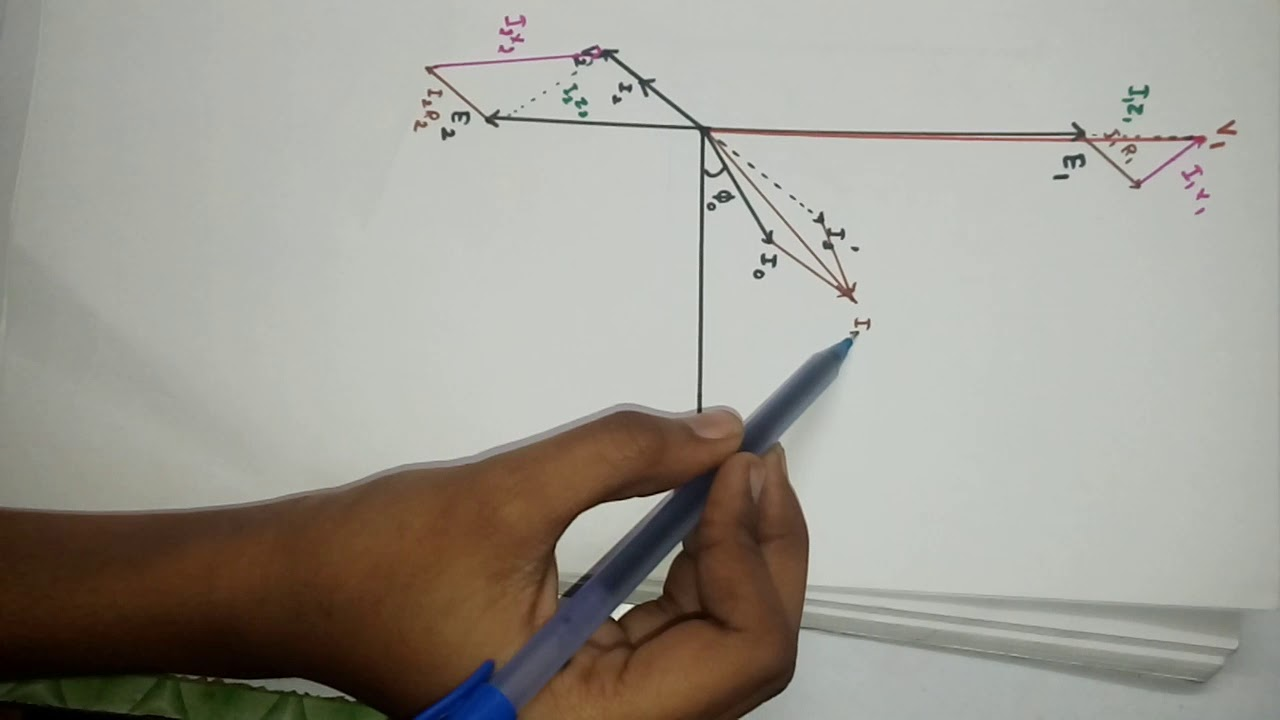 how to draw phasor diagram of transformer on load in easy way youtube