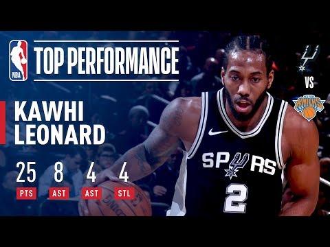 Kawhi Leonard Scores Season High 25pts vs The Knicks