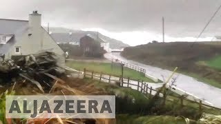 Video Three dead and 360,000 properties without power as Storm Ophelia hits Ireland download MP3, 3GP, MP4, WEBM, AVI, FLV November 2017