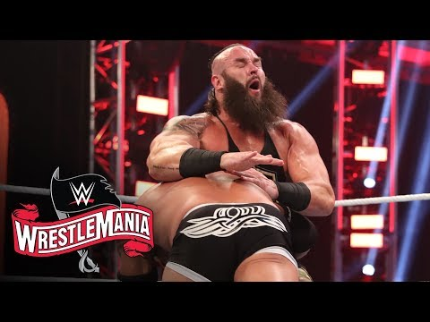 Braun Strowman Survives Four Spears From Goldberg: WrestleMania 36 (WWE Network Exclusive)