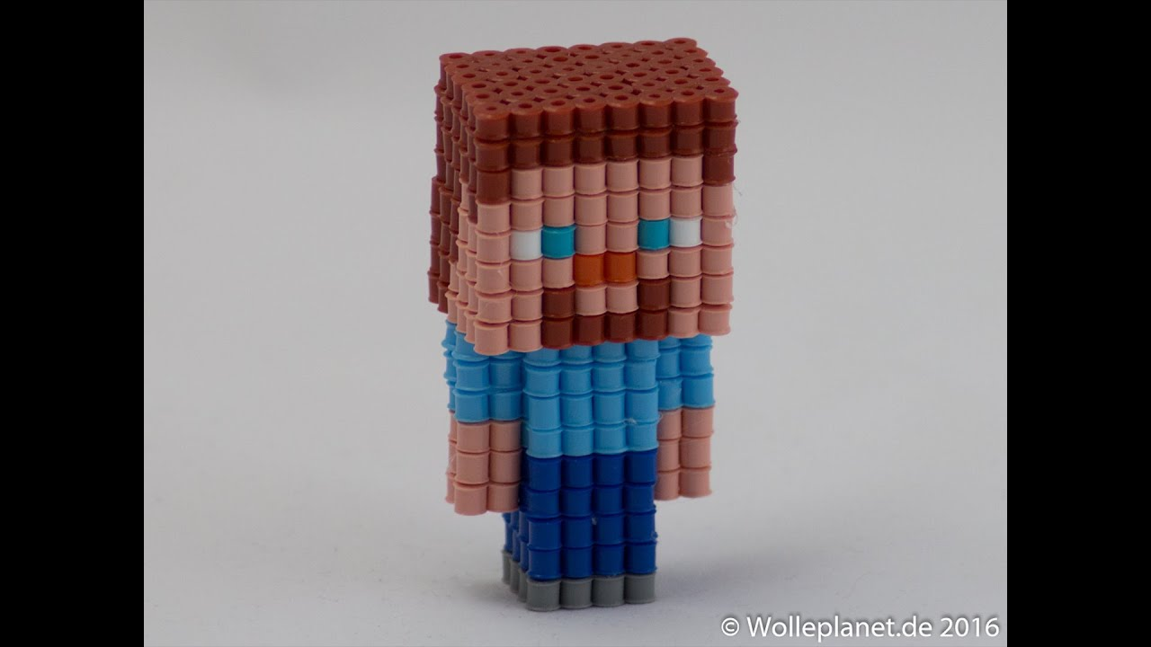 Perler Bead 3d Minecraft Steve