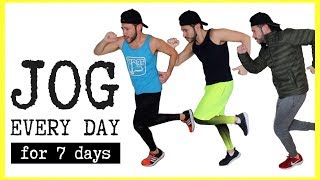 What Happens If You Jog 10 MINUTES EVERY DAY for 7 DAYS 🏃🏻‍♂️ Body Transformation Challenge Results