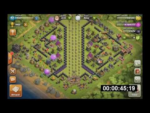 //PP// Clash of Clans - Training BARBARIANS 1s! [BOOST BARRACK ] [NO KOMENT]