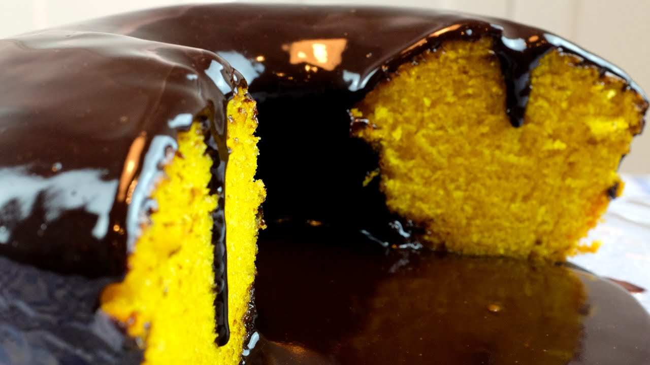 Bolo De Cenoura Com Cobertura De Chocolate Youtube