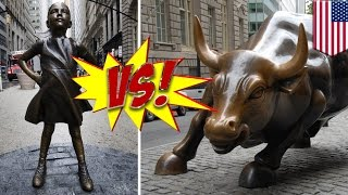 'Charging Bull' creator claims 'Fearless Girl' violates his rights, wants it moved - TomoNews