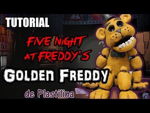Tutorial Golden Freddy (FNaF) de Plastilina / Clay / Porcelana fria / Cold Porcelain