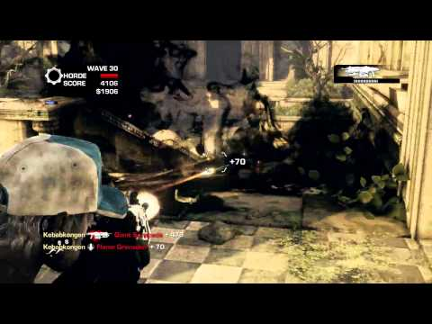 Gears of War 3: Horde on Aftermath - Savage Corpser Wave 30 Travel Video