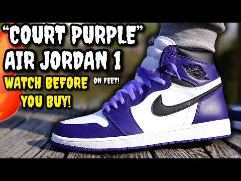 Air Jordan 1 COURT PURPLE ON FEET Review! Worth $170? Watch BEFORE You BUY! (LACE SWAP INCLUDED)