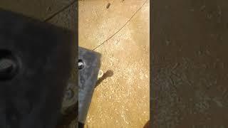 испытание ножей для ''СОВА - Щ 500'' на ударную прочность.