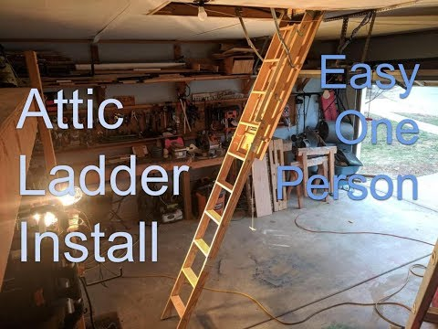 Louisville Attic Ladder Install With One Person Easy Youtube