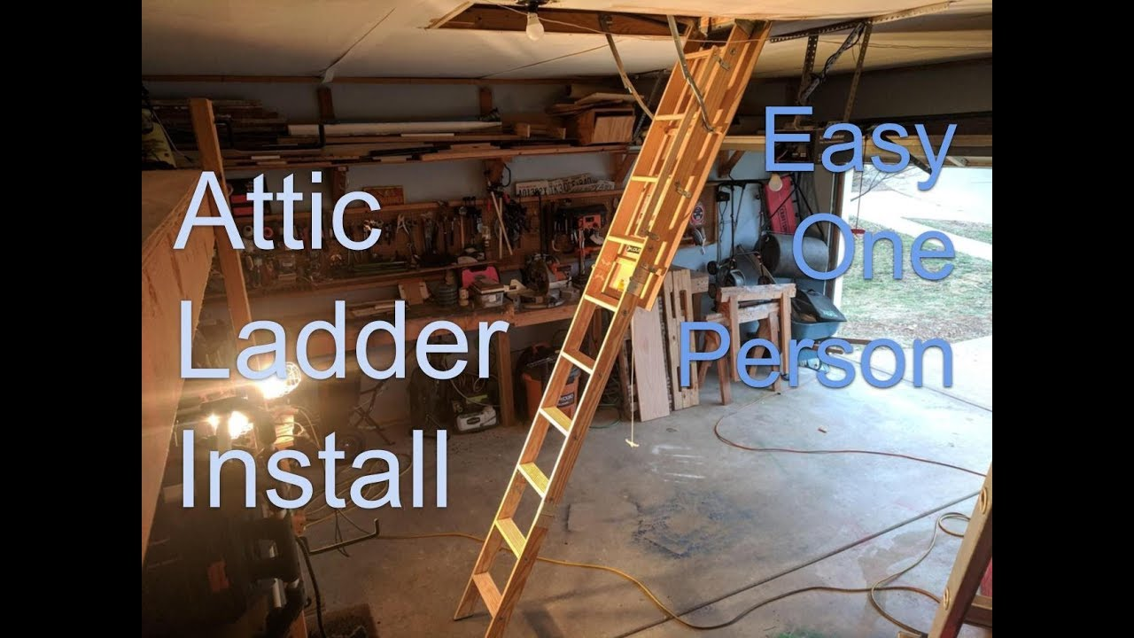 Louisville Attic Ladder Install With One Person Easy