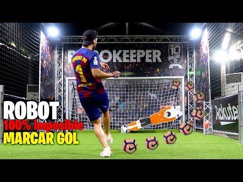GOL al ROBOT PORTERO 100% IMPOSIBLE !! (Robokeeper)